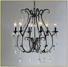 charming black wrought iron chandelier with crystals regard to prepare 16