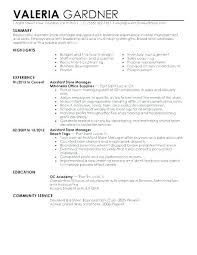 Assistant Store Manager Job Description Resume Best Of Retail Manager Resume Sample Store Manager Resume Sample Retail
