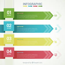 tamplate infographic template with arrow banners vector free download