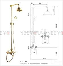 ada shower curtain rod height bathroom dual handles exposed pure copper wall mount tub