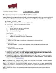 10 Letter Of Absent From School Sample Business Letter