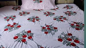 Machine Embroidery Designs For Bed Sheets Beautiful Embroidery Design Bed Sheets Embroidery By Machine Chadar Ki Design