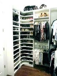 corner closet organizer ideas shelves shelf shoe closetmaid espresso org
