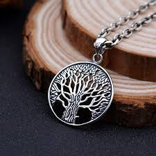 s925 solid thai silver tree of life pendants for necklace men jewelry 100 real pure