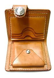 craft sha leathercraft leather short biker wallet billfold kit