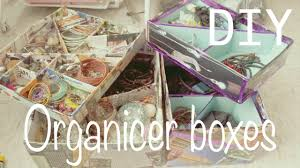 Make your own organizer boxes  make up / jewelry organizer :)