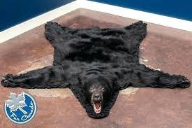 faux bearskin rug black bear skin rugs with head uk