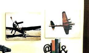 vintage airplane decor aviation wall art wooden triptych plane propeller boat lane