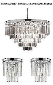 2 tier chandelier set of 2 1 retro odeon crystal glass fringe 5 tier chandelier chrome