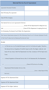 help desk service level agreement template interesting template sample for internal service level agreement
