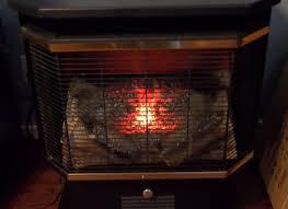 decorative cast iron fireplace stove w electric log light