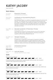 Respiratory Therapist Resume Templates All About Letter Examples
