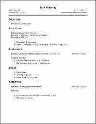 Resume Examples No Experience Job Resume Examples No Experience Unique Resume Examples With No 32
