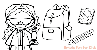 coloring back to school coloring pages simple fun for kids of bus sheets printable