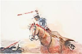 Resultado de imagem para toureio a cavalo