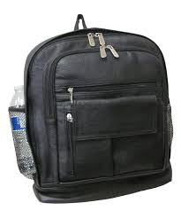 all gone black leather backpack