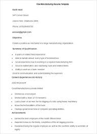 Manufacturing Resume Templates