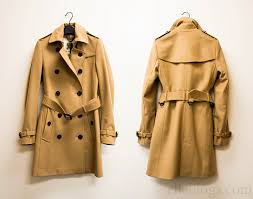 review burberry london kensington fit wool cashmere trench coat in camel