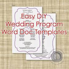 Free Microsoft Word Wedding Program Template 28 Great Ideas For Free Wedding Program Template Word