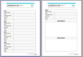 downloadable lesson plan templates free lesson plan template