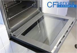 clean glass oven door