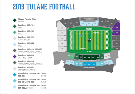 Tulane Stadium Seating Chart Green Wave Club