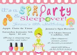 sleepover template free printable spa birthday invitations template bagvani on free