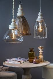 Hanglamp Sade Glas Hout Helder Pendel 28 Cm Light