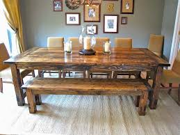 rustic kitchen table with bench. Rustic Kitchen Table With Bench Seating Lovely How To Make Farmhouse Benches Aptsforrent T