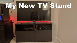 Movable Tv Stand Living Room Furniture My New Tv Stand Testing Out Youtube Mobile Live Stream Youtube