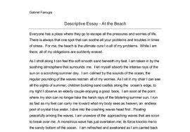 descriptive essay on the beach okl mindsprout co descriptive