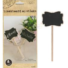 large blackboard sticks pack of 4 kraft paper and eco party supplies party favours party supplies