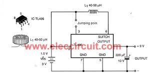 simple 1 5v to 9v step up dc converter circuit using tl496 small dc to dc converter 1 5v or