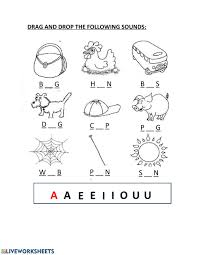Primary emphasis is on teaching consonant sounds, short vowel. Phonics Vowels Worksheet