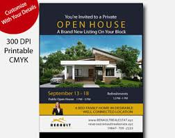 realtor open house flyers etsy your place to buy and sell all things handmade