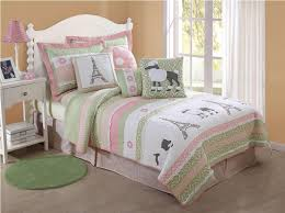 image of paris themed bedding for teens