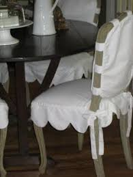 cote de texas scallop slipcover for bergere chairs dining room