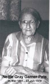 Nettie Garner Pate (1891-1978) - Find A Grave Memorial