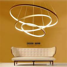 modern circular ring pendant lights 3 2 1 circle rings acrylic aluminum led lighting ceiling lamp fixtures for living room dining room double pendant