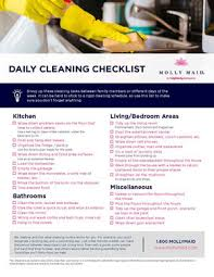 Cleaning Chart Checklist Daily Cleaning Checklist Day To Day Cleaning Routine
