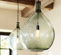 clift oversized glass pendant pottery barn with regard to lights inspirations 10