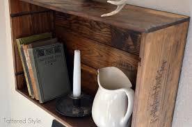 wine crate shelf diy