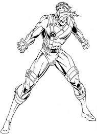 x men x men cyclops coloring page