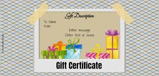 Make Your Own Gift Certificate Free Printable Printable Vouchers Template
