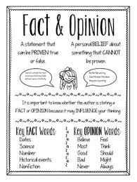 Fact Vs Opinion Anchor Chart Fact And Opinion Anchor Chart Anchor Charts Fact Opinion