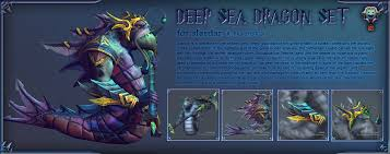 dota2 slardar soul of deep sea dargon set polycount