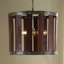 wine barrel chandelier lighting shaped shades of light crate and