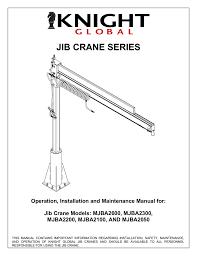 Jib Crane Base Plate Design Jib Crane Series