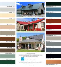 Standard Colors For Residential Metal Roofing Panel Systems