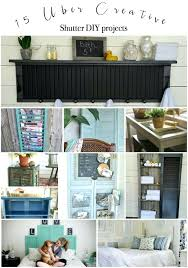 diy window shutters fifteen favorite creative shutter projects made from old wood shutters packed with useful
